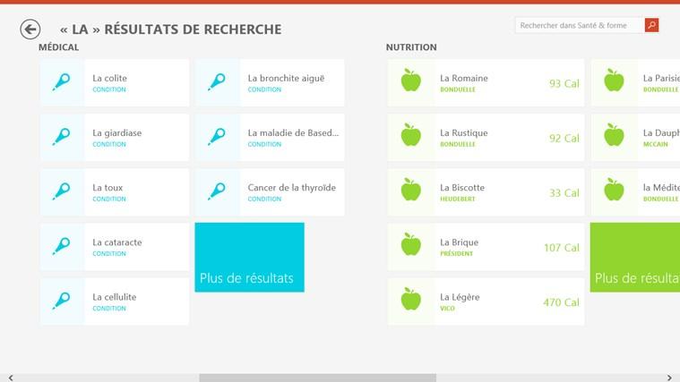 Bing Santé & Forme capture d'écran 7