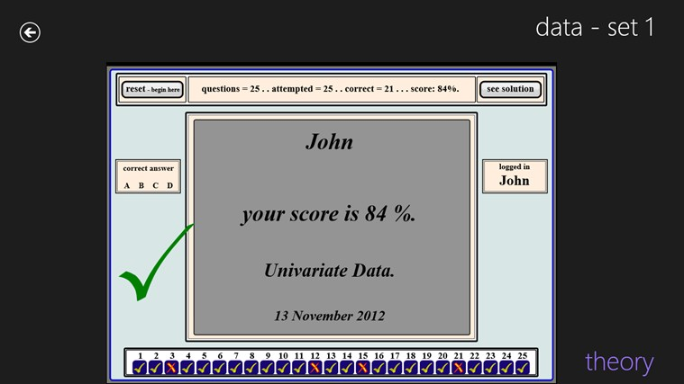 Statistics and Data screen shot 3