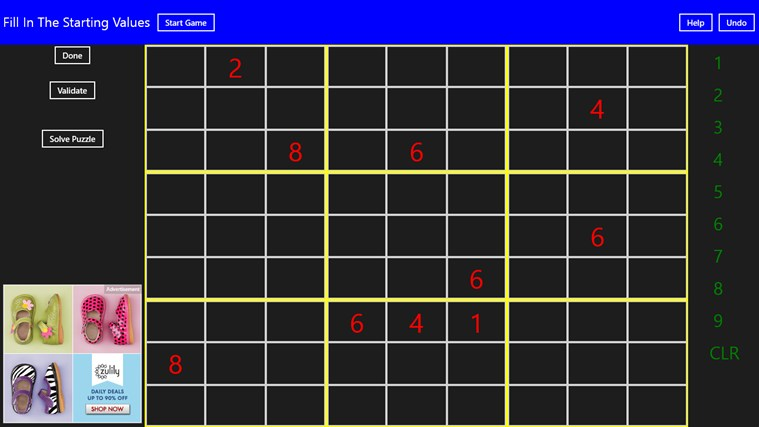 Complete Sudoku screen shot 5