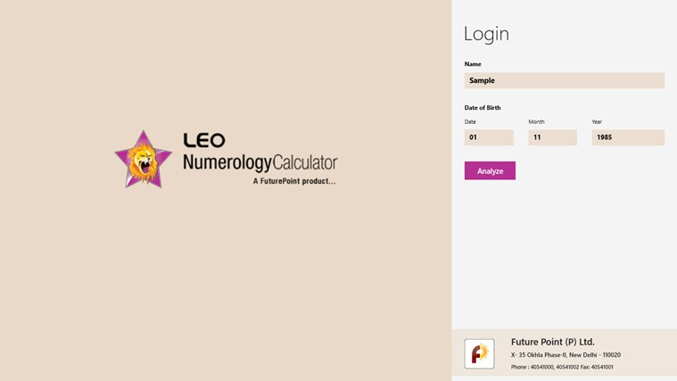 Leo Numerology Calculator screen shot 1
