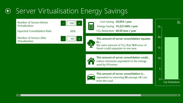 Microsoft Windows Energy Calculator screen shot 1