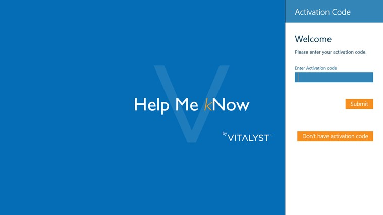 Vitalyst Help Me kNow screen shot 1
