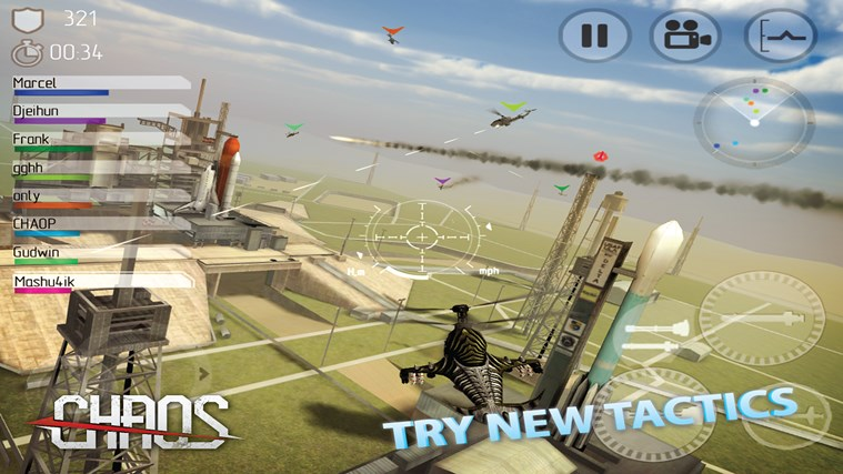 C.H.A.O.S Multiplayer Air War screen shot 1