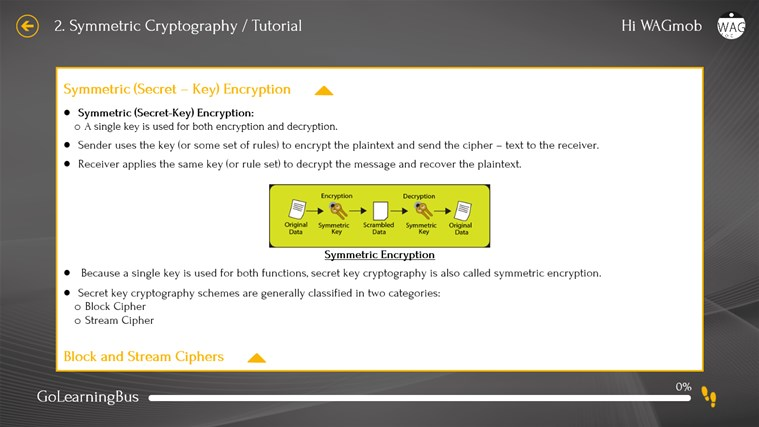 Cryptography by WAGmob screenshot 3