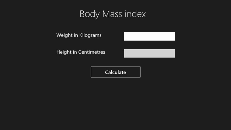 BodyMassIndex Screenshot 1