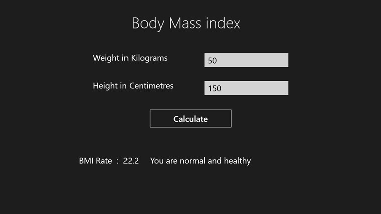 BodyMassIndex Screenshot 3