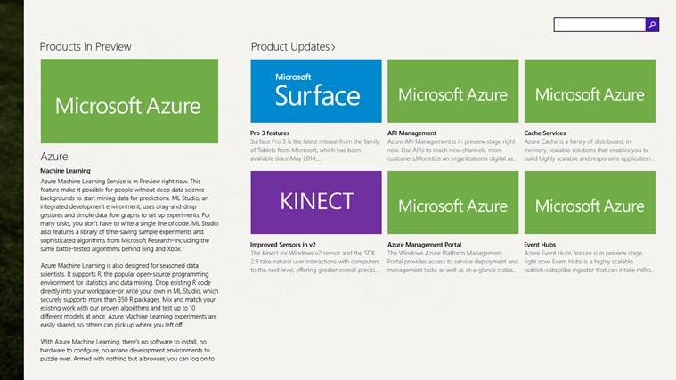 Products & Services Portfolio screen shot 1