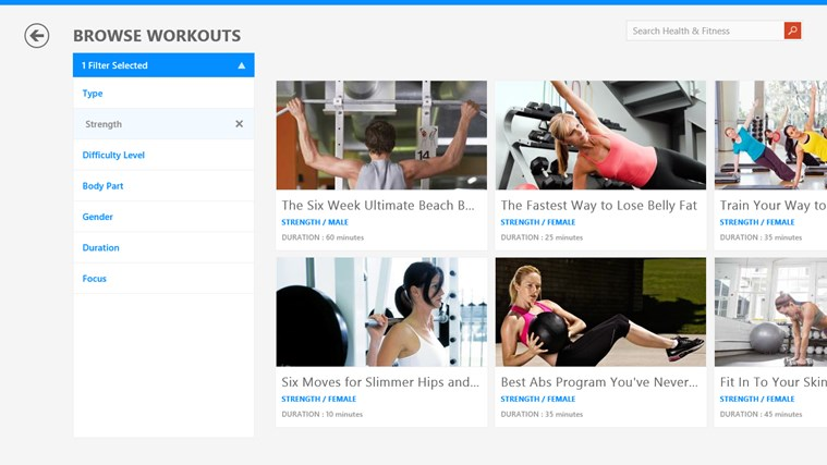 MSN Health & Fitness screen shot 1