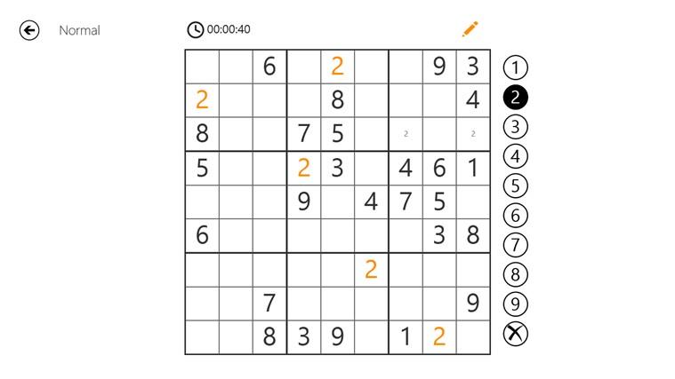 Sudoku 8 Free schermafbeelding 1