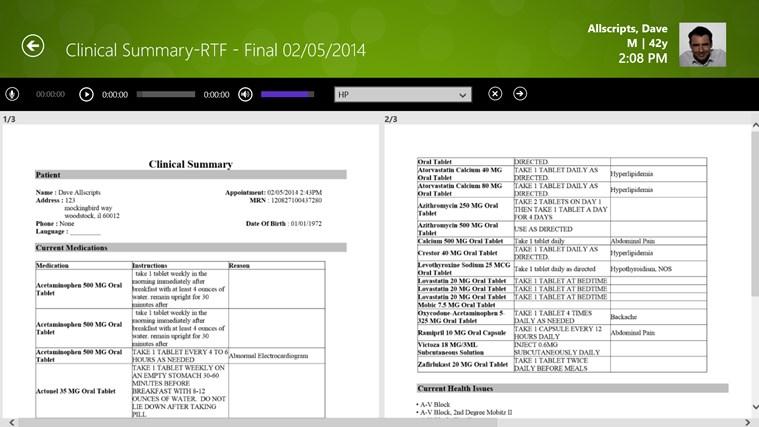 Allscripts Wand for TouchWorks EHR screen shot 3