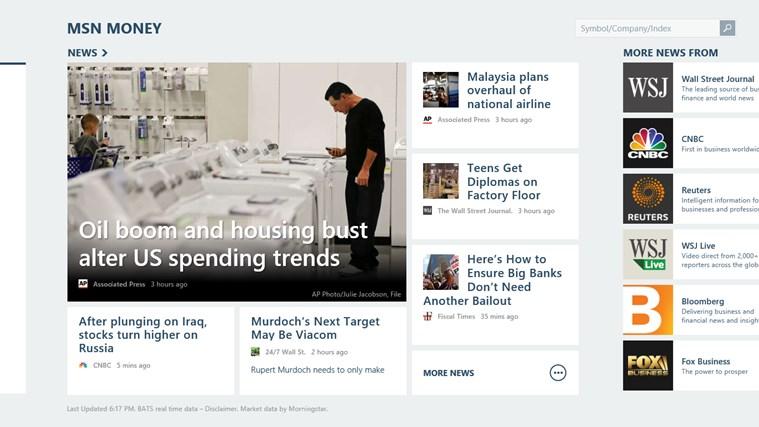MSN Money screen shot 5