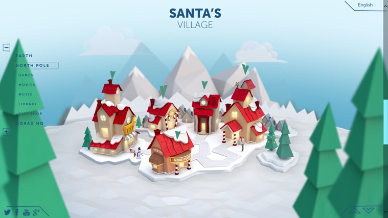 NORAD Tracks Santa screen shot 1