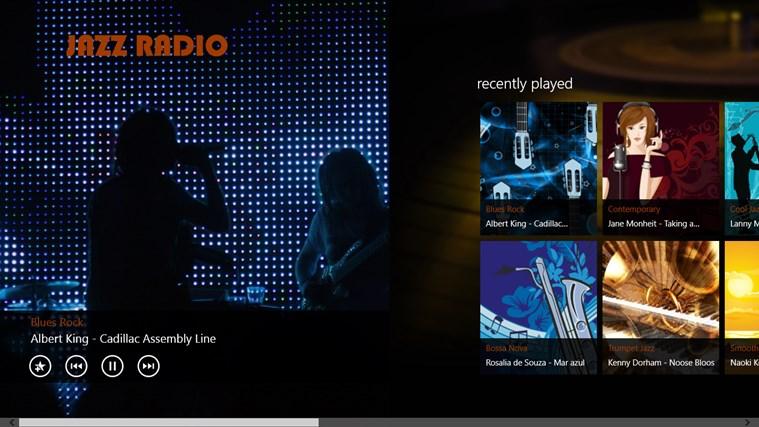 JazzRadio screen shot 1