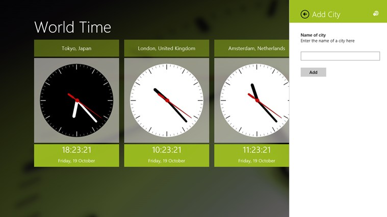 World Time screen shot 1