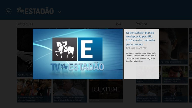 TV Estadão captura de tela 1
