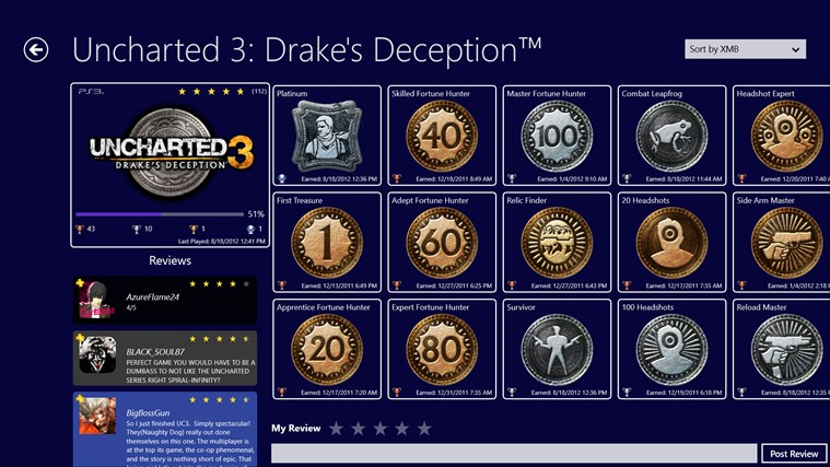 PS3 Trophies screenshot 1
