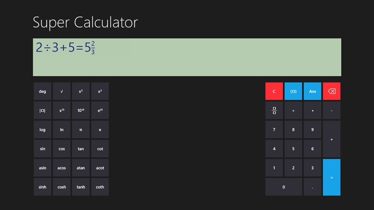 Super Calculator screen shot 1