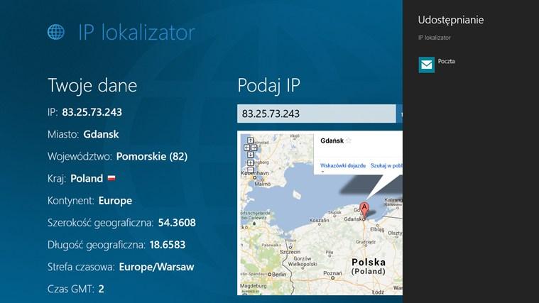IP lokalizator screen shot 1