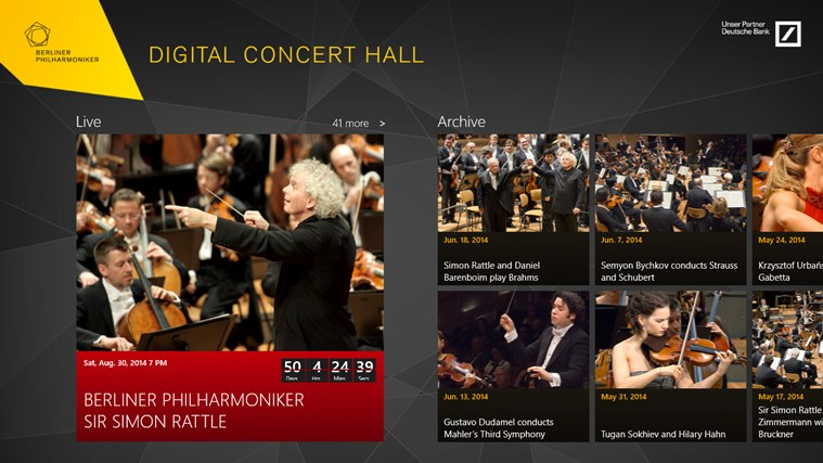 Digital Concert Hall screen shot 1