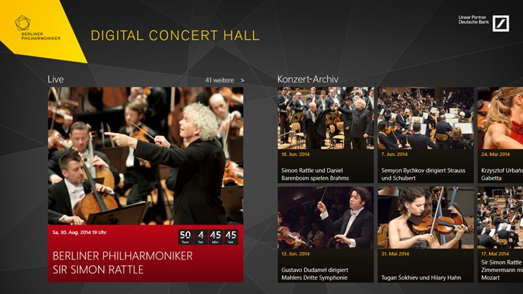 Digital Concert Hall Screenshot 1