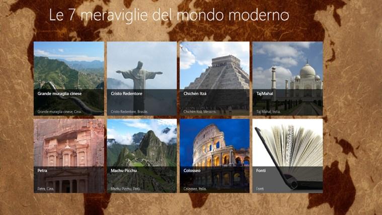 le 7 meraviglie del mondo moderno app for windows in the