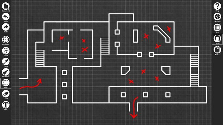 Blueprint sketch for Blueprints drawing apps