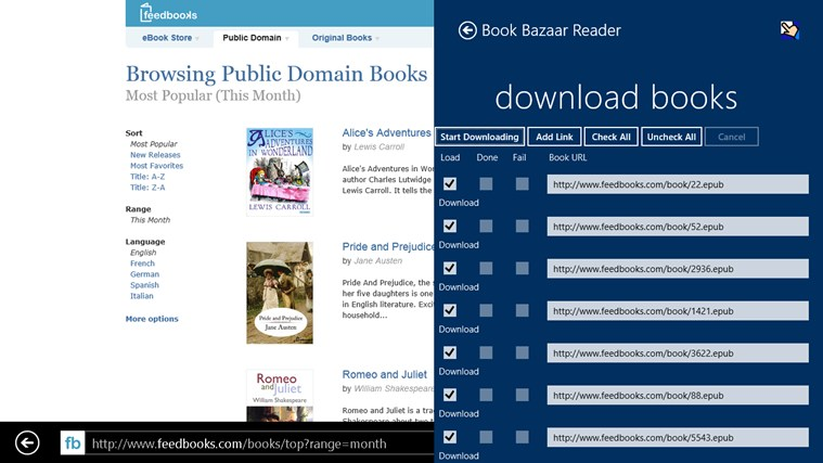 Book Bazaar Reader screen shot 7