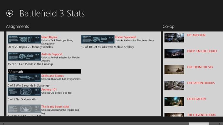 Battlefield 3 Stats petikan skrin 5