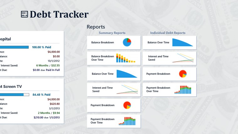 Debt Tracker screen shot 1