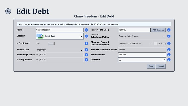 Debt Tracker screen shot 7