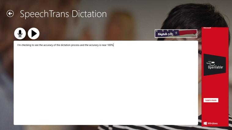SpeechTrans Dictation screen shot 1