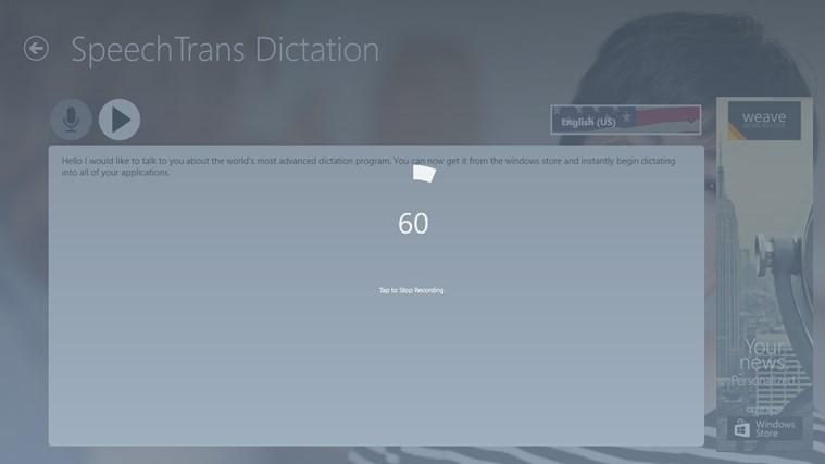SpeechTrans Dictation screen shot 3