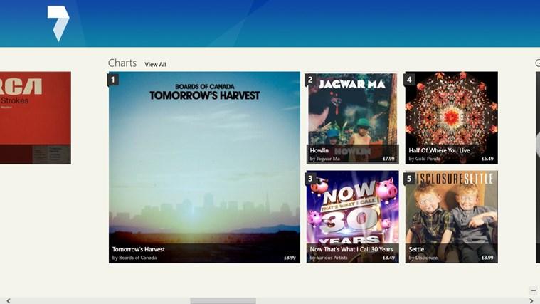 7digital Music Store screen shot 1