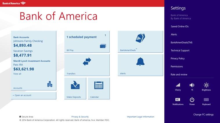 Bank of America screen shot 7