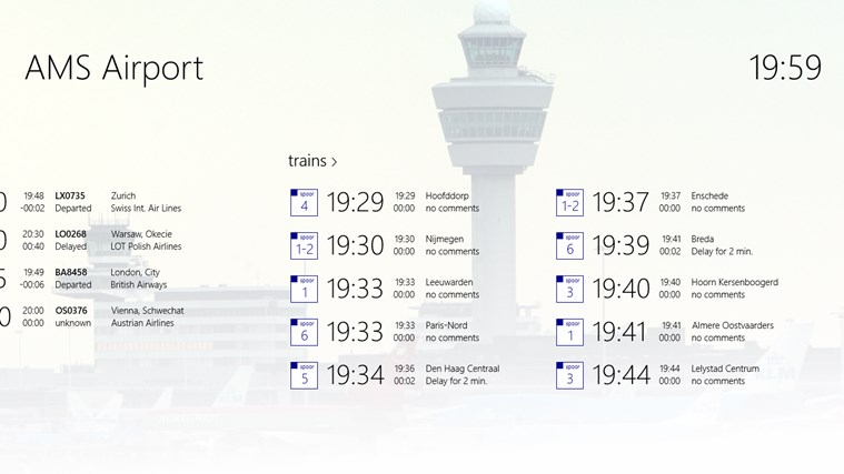 AMS Airport screen shot 1