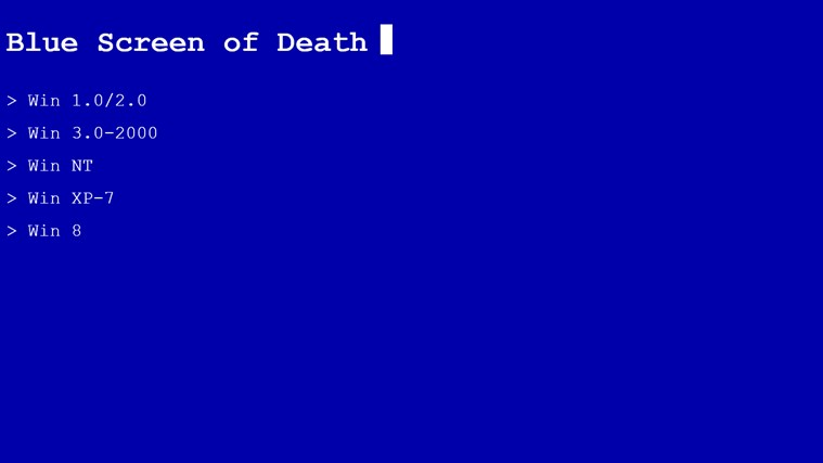 Blue Screen of Death screen shot 1