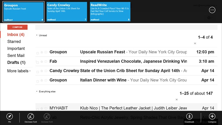 Toasts&Tiles for Gmail screen shot 5