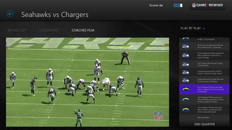 NFL Game Rewind screen shot 5