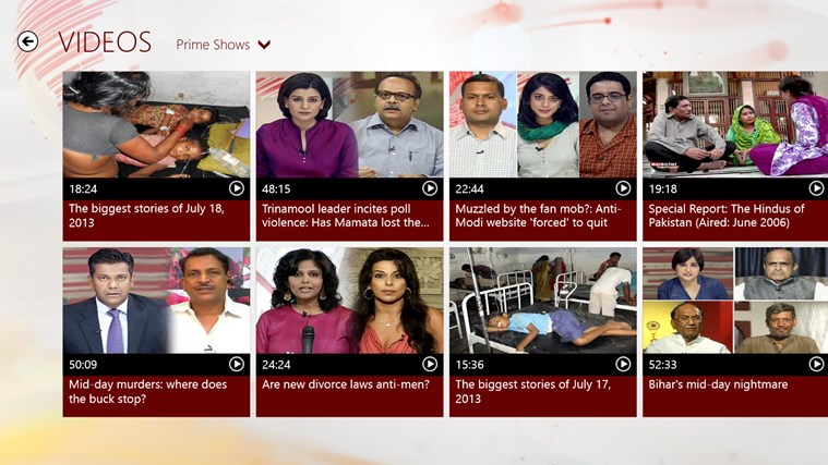 NDTV screen shot 5