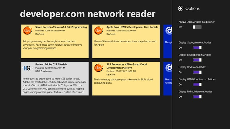 developer.com network reader screen shot 3
