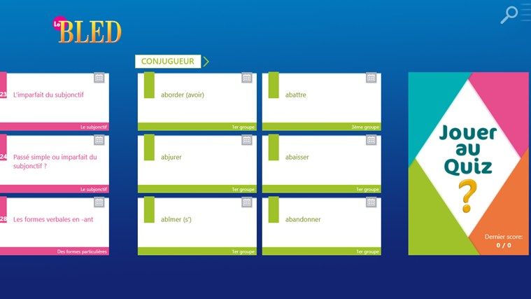Le BLED Orthographe, Grammaire, Conjugaison screen shot 1