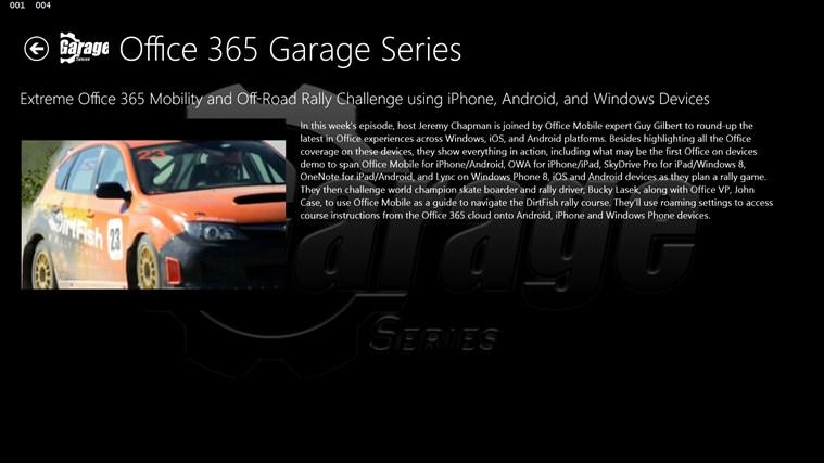 Office 365 Garage Series screen shot 1