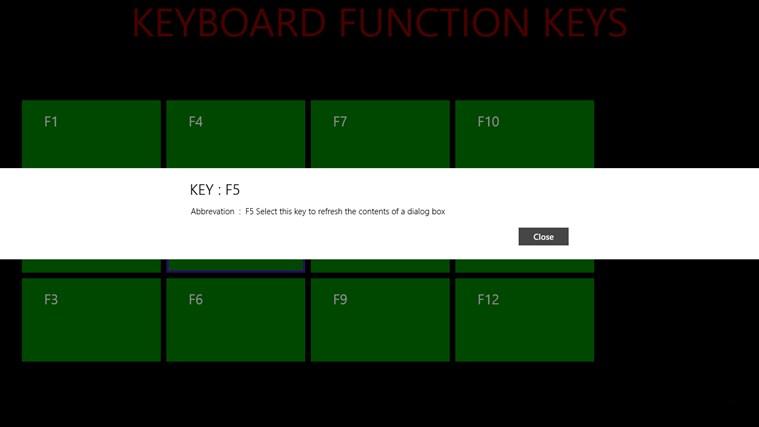 KEYBOARD FUNCTION KEYS screenshot 5
