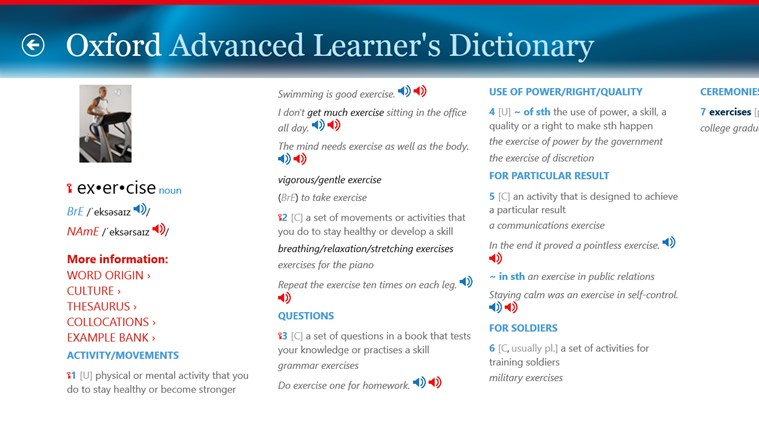 Oxford Advanced Learner's Dictionary, 8th edition Screenshot 1