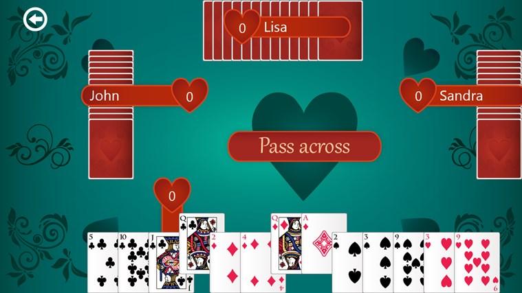 Hearts Deluxe screen shot 1