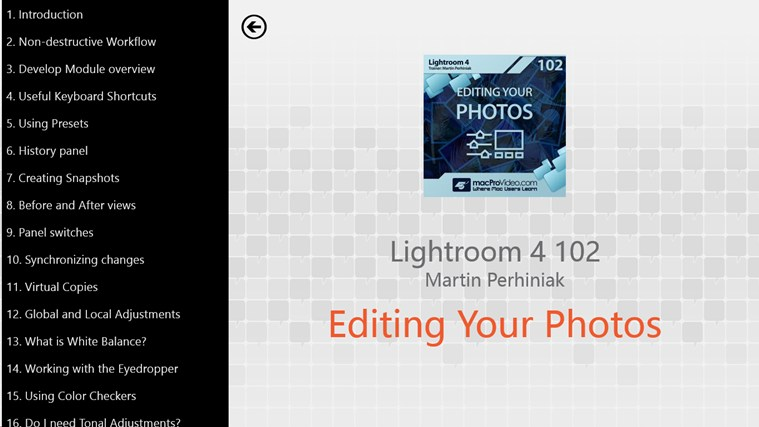 Lightroom 4: Editing Photos petikan skrin 1