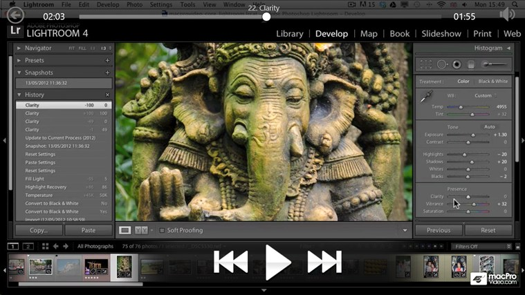 Lightroom 4: Editing Photos petikan skrin 3