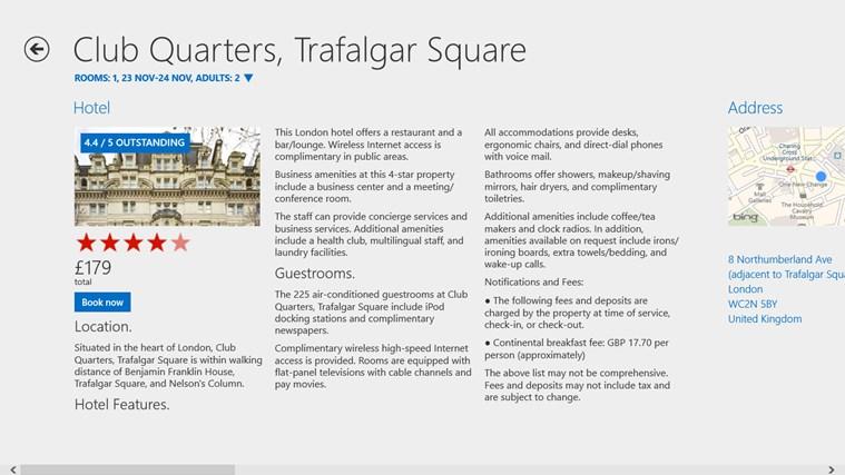 Hotels.com schermafbeelding 1