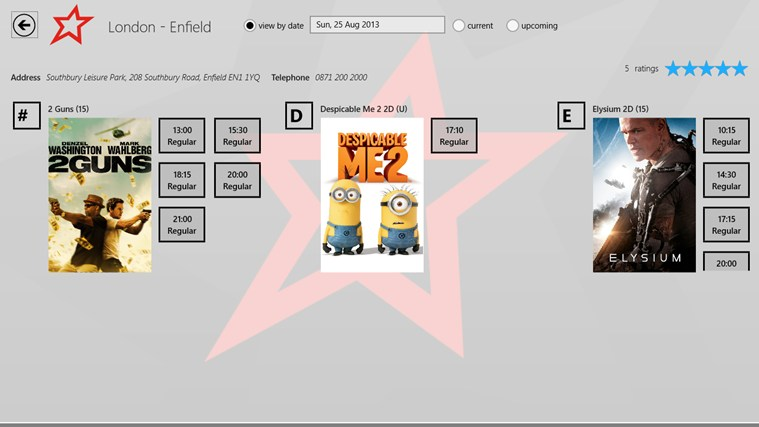 Cineworld screen shot 3