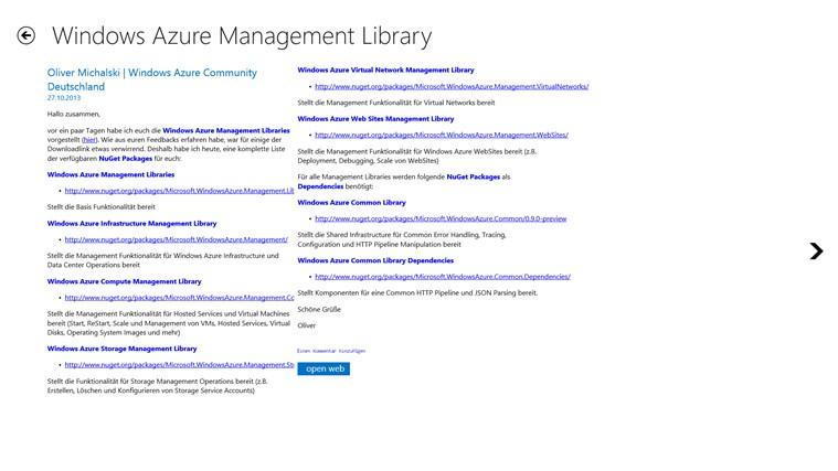 Azure BlogNews Screenshot 1